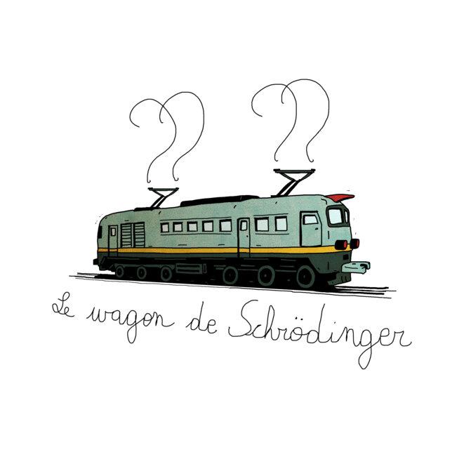 le wagon de schrodinger © Martin Wautie