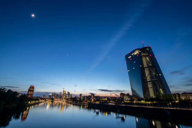 Le siège de la Banque centrale européenne, à Francfort. © BORIS ROESSLER / DPA / dpa Picture-Alliance via AFP