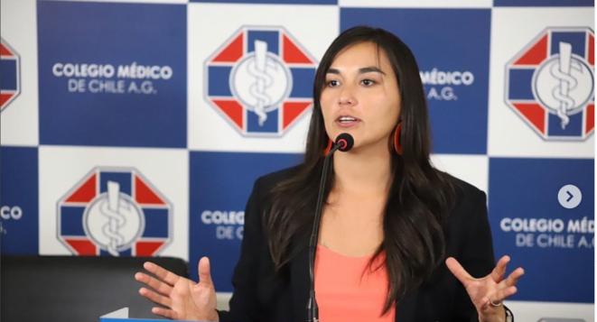 Izkia Siches. © Capture d'écran/Colegio de medico
