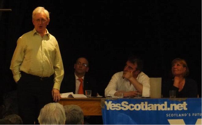 Capture d'écran - Craig Murray s'exprimant lors d'un événement pro-écossais sur l'indépendance en 2013
