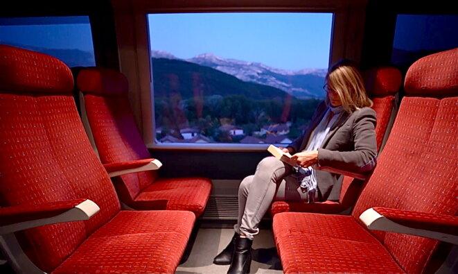 Depuis sa montagne, Bianca va travailler tous les jours à Grenoble © P.Morel/E.Corre