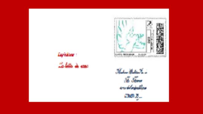 la lettre du coeur © chantal Brugère