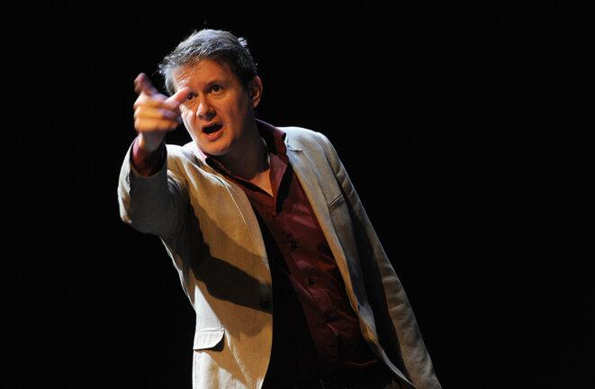 """Le conteur Fred Pougeard, qui participe à l'événement """"Allo Conteur !"""" © Alain Julien"""
