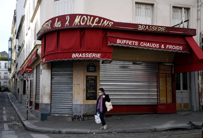 À Montmartre, le 21 avril. © Franck Fife / AFP
