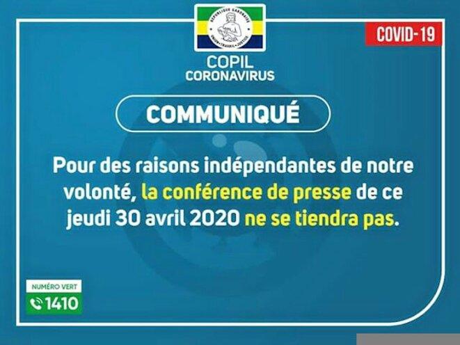 Ce communiqué du Copil est révélateur de l'échec du régime Bongo-Valentin dans la lutte contre le Covid-19