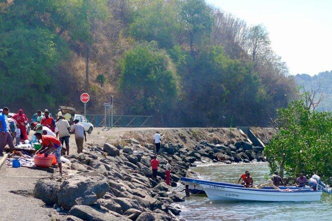 retour de pêche et vente de poissons. Mamoudzou, 2012 © daniel gros