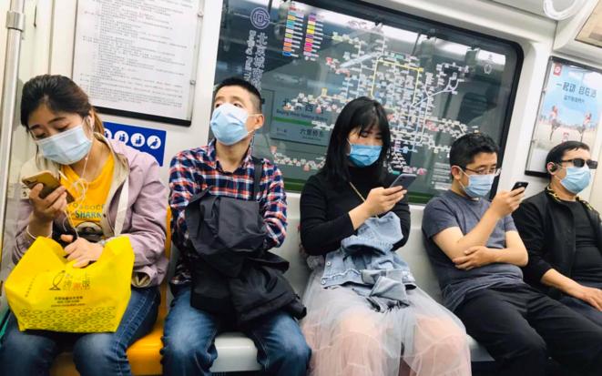 Dans le métro de Pékin. © DR