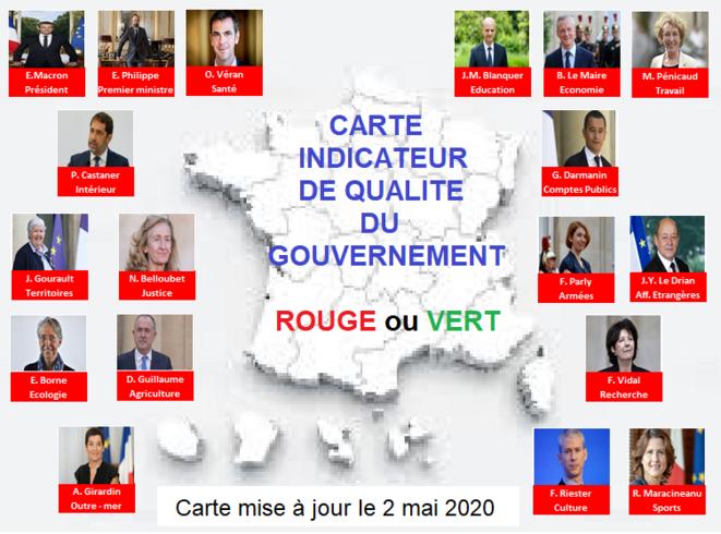 Carte indicateur qualité du gouvernement © Gilles Lapierre