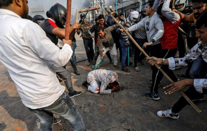 Muhammad Zubair, 37 ans, tabassé par une foule de hindous lors d'émeutes à Delhi © Danish Siddiqui/ Reuteurs
