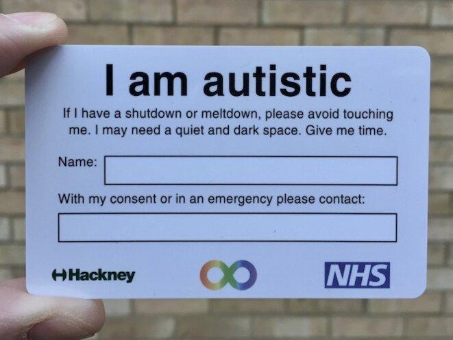carte Autistic Hackney recto