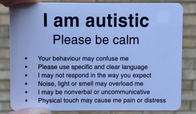 carte Autistic Hackney verso