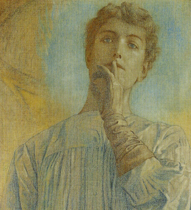 Silence, Fernand Khnopff, 1890 (détail)