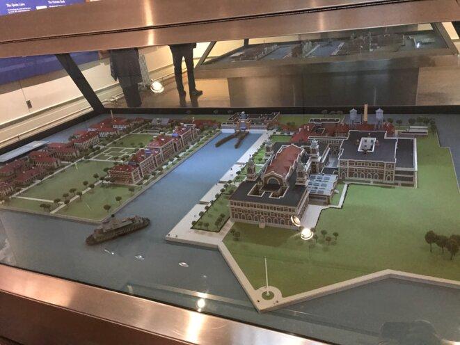 Maquette d'Ellis Island [Ph. YF]