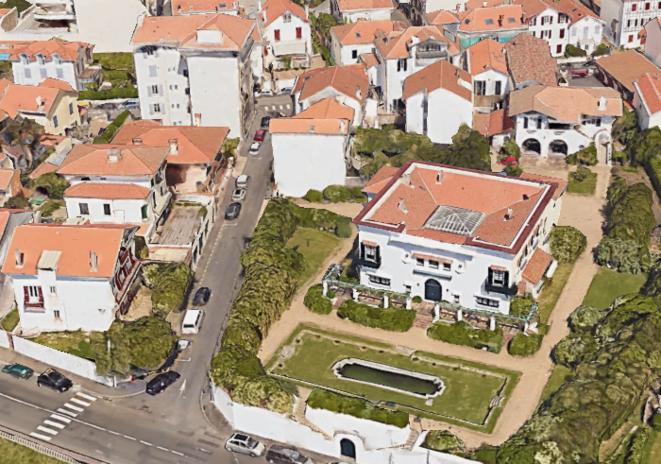 Oksana et Pavlo vivaient au premier étage de la villa. © Google Earth