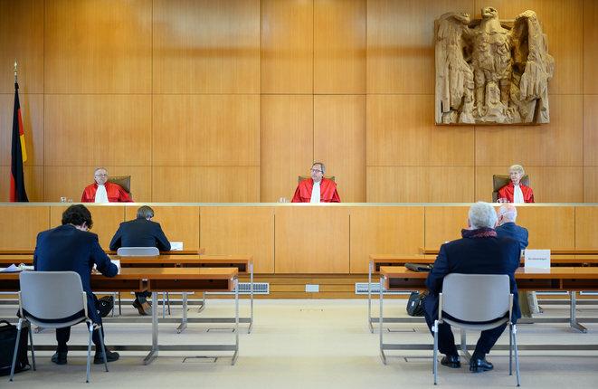 El Tribunal de Karlsruhe dictó su sentencia sobre el BCE el 5 de mayo. © Sebastian Gollnow/POOL/AFP