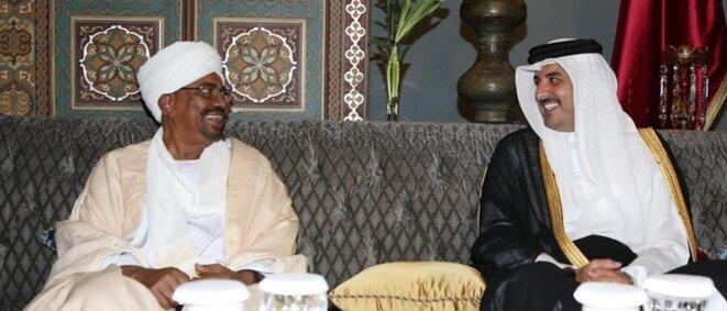 Omar Al Bachir avec l'Emir du Qatar