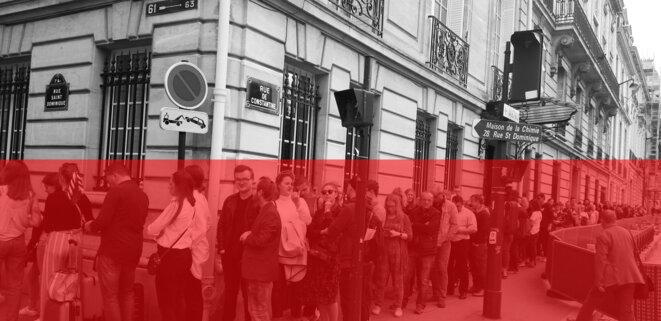 Devant l'ambassade de Pologne lors du vote pour les élections parlementaires de 2019 ©ADDP © ADDP