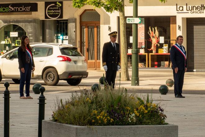 Typhanie  Degois députée de la Savoie LREM et Renaud Beretti maire LR © plbillot