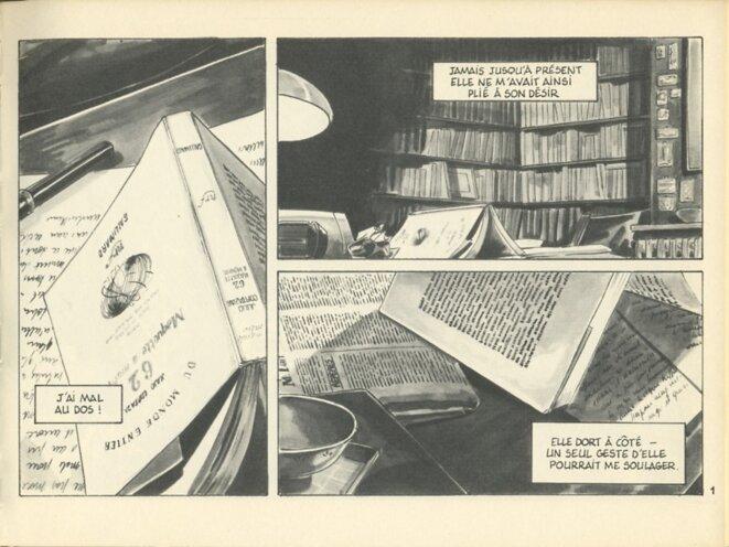 Dessous troublants, édit° Futuropolis, 1986 © Jeanne Puchol