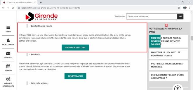 Photo Gironde.fr Entraide et Solidarité. Soutien des producteurs locaux et des petites entreprises