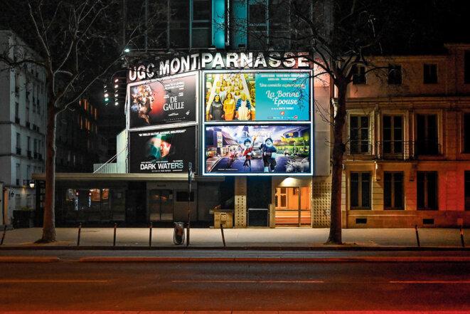 l'UGC Montparnasse, fermé à cause de la pandémie de coronavirus. © Marc Chaumeil