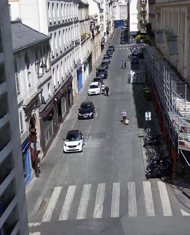 Rue du Bac, en avril. © Marc Jamous