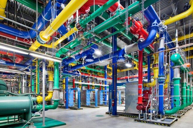 Système de refroidissement du datacenter Google de Mountain View - États-Unis © Connie Zhou