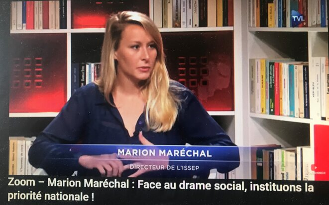Marion Maréchal-Le Pen sur TV Libertés