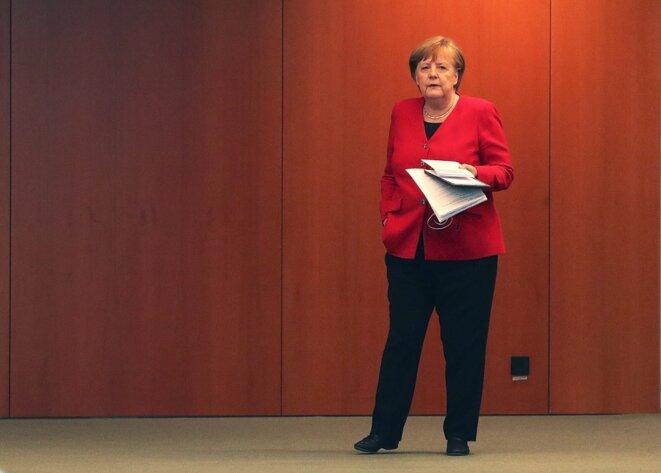Angela Merkel le 6 mai 2020 à Berlin. © Michael Sohn / AFP / pool.