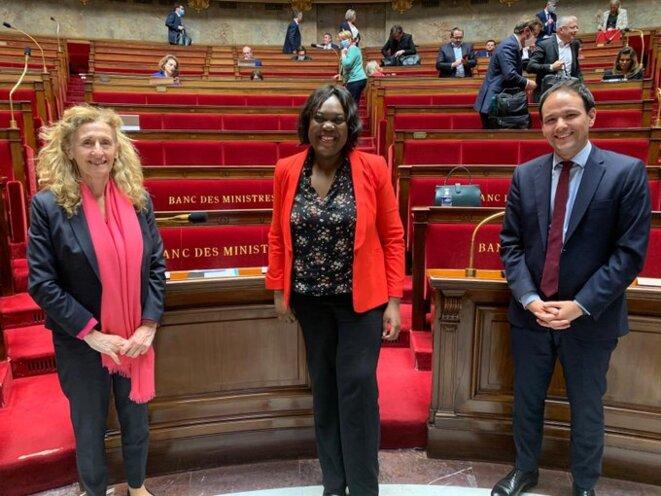 Nicole Belloubet, Laetitia Avia et Cédric O. © Compte Twitter de Cédric O.