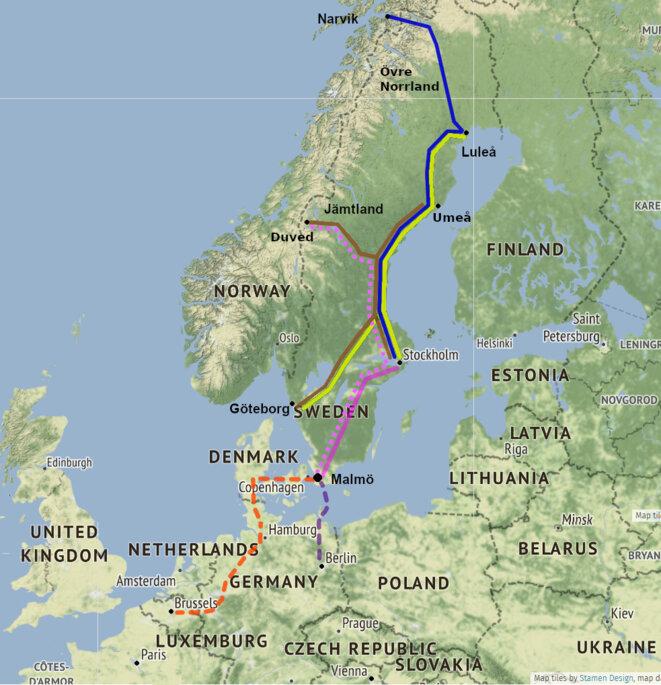 Trains de nuit desservant la Suède prévus pour 2021