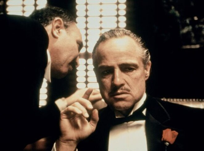 American actor Marlon Brando in the role of Don Corleone in The Godfather (1972) © Paramount Pictures Corporation