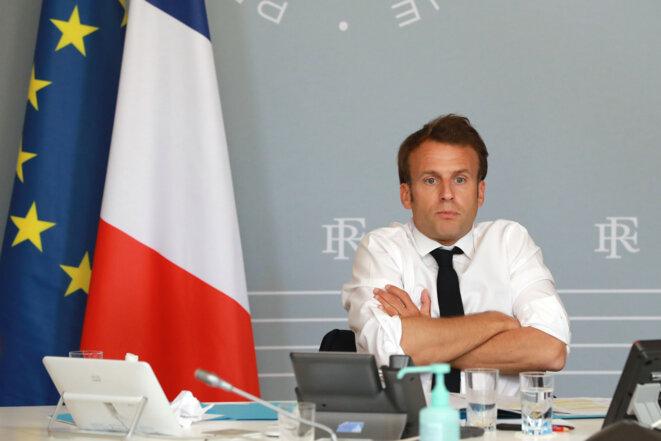 Emmanuel Macron à Paris, le 7 mai 2020. © AFP