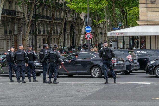 Manifestation de taxis à Paris