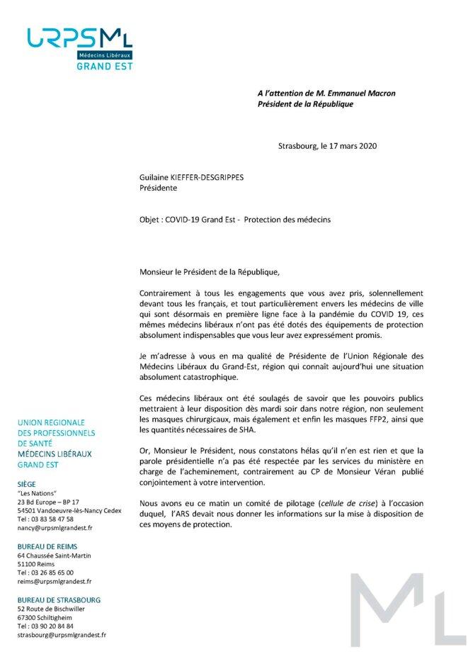Lettre à E.Macron (1) © Guilaine Kieffer-Desgrippes