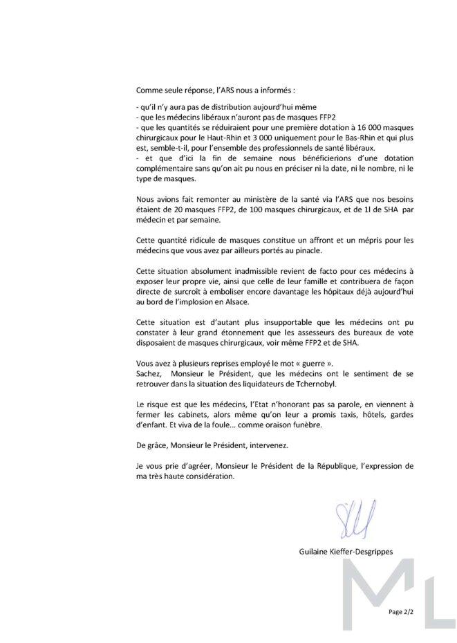 Lettre à E.Macron (2) © Guilaine Kieffer-Desgrippes