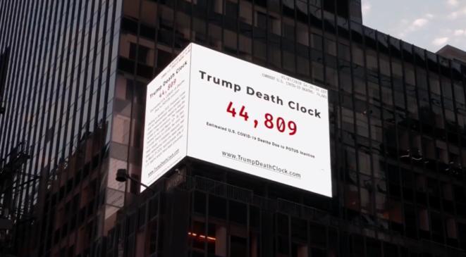 Le compteur des morts imputables à Trump. © Capture d'écran/YouTube