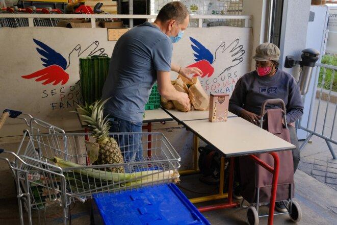 Les lots d'aide alimentaire doivent permettre de se nourrir pendant plusieurs jours. © Antoine Peillon (Ishta)