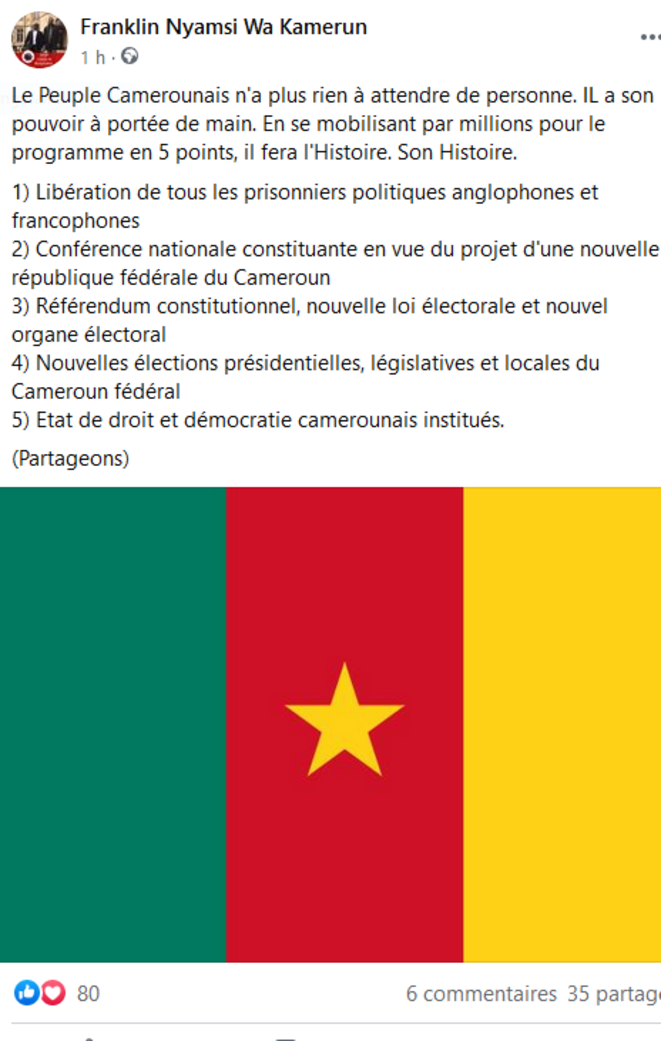 les-5-points-de-la-vision-du-changement-camerounais