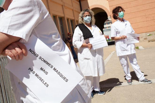 Hôpital de Montauban, le 19 mai. © Hans Lucas via AFP