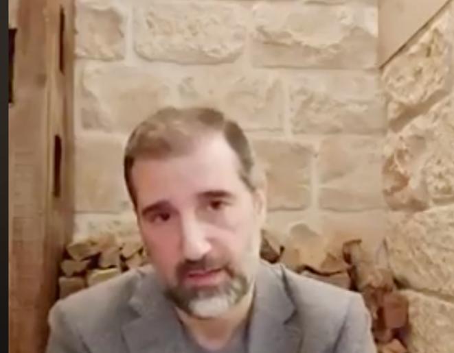 Rami Makhlouf dans une vidéo sur son compte Facebook. © Capture d'écran/Facebook