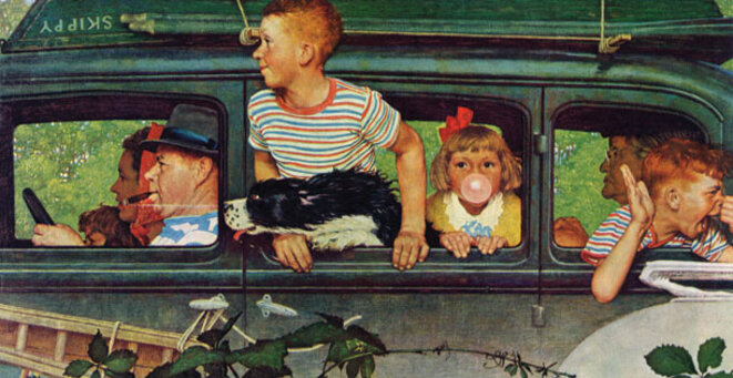 Road Trip! Saturday Evening Post 1947 © Norman Rockwell