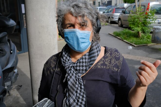 Farida Taher, à Bagnolet, le 26 avril 2020. © Antoine Peillon (Ishta)