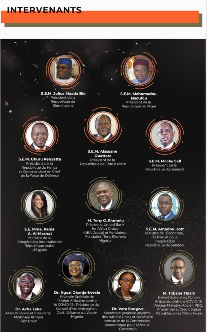 Speakers « Pour un monde résilient : l'appel de l'Afrique en faveur d'une nouvelle gouvernance mondiale » © New York Forum Institute