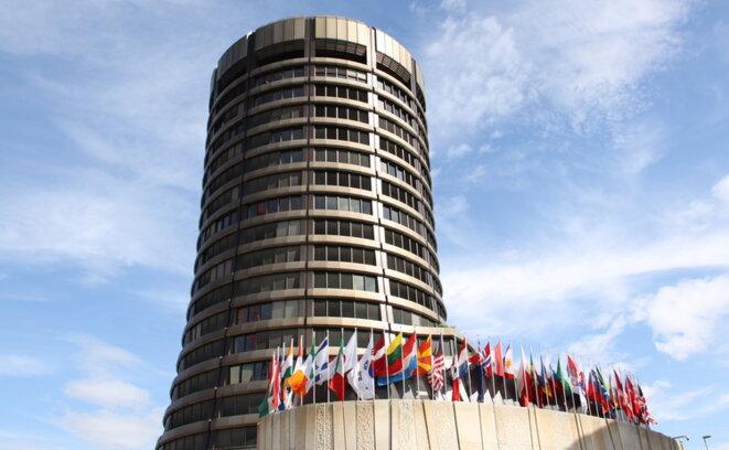 """siège à Bâle (en Suisse) de """"la banque centrale des banques centrales"""", la BRI"""