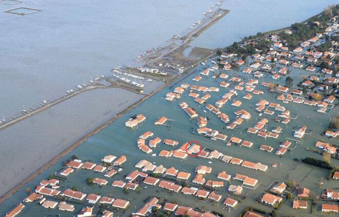 La côte Vendéenne (en France) suite à la tempête Xynthia en février 2010