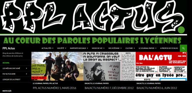 Capture écran de la page d'accueil du blog PPL Actus