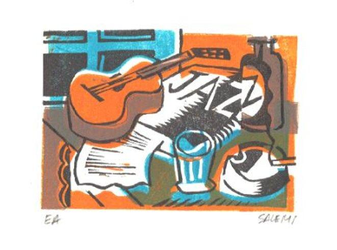 """""""jazz"""" gravure de Jean-Claude Salémi © Jean-Claude Salémi"""