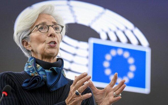 la présidente de la BCE, Christine Lagarde