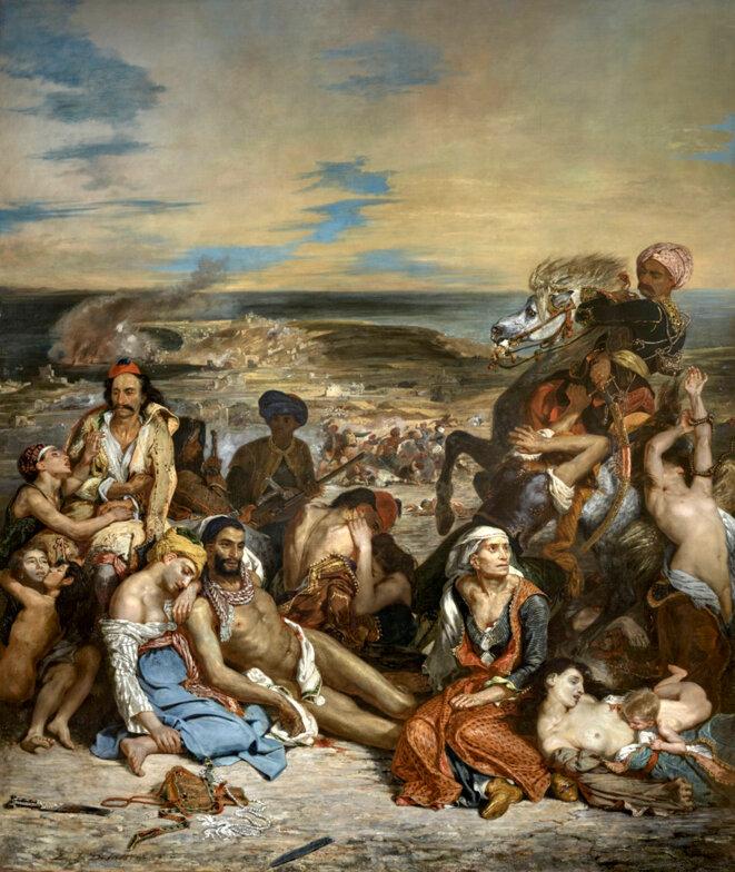 Scène des massacres de Scio © Eugène DELACROIX 1824